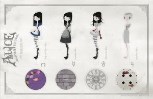 Alice Madness Returns Paperdolls by AlxFactory