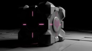 Companion Cube -Portal- by DemonKabuto