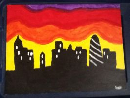 Silhouette City by DaHiest