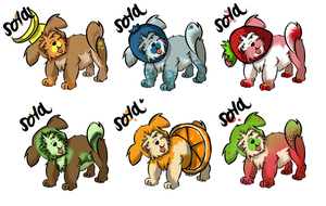 fruits shih tzu adoptables(closed) by CASANDRAGUIMAUVE