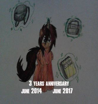 3 years Anniversary. by redrangerki
