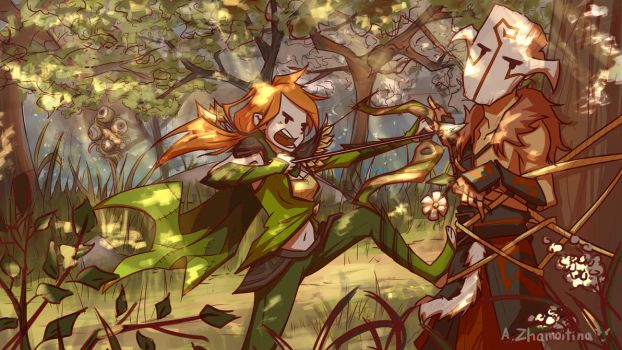 One Fine Day in the Forest Dota 2 [+Video Process] by AnastasiaZhamoitina