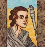 Rey Sketch Card by ghoulsandgals