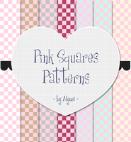 Pink Squares Patterns by Alywe