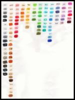 Copic Color Chart by Mew-Sumomo