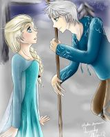 Jack and Elsa by True-Blue-Hikari