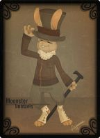 Moonster Card - Vintage by Neozaki