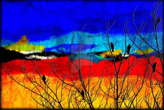Abstract Dune by debsrockine