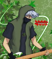 Kakashi guitar -Rock band- by kakasakuAXS