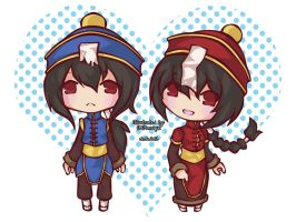 Bongun and Munak by ningyohime07