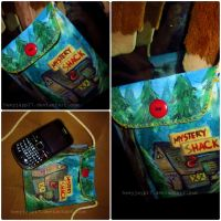 Hand-painted Gravity Falls Bag of some sort idk by heeyjayp17