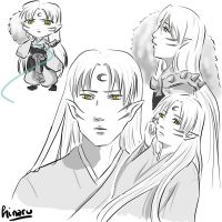 Sesshomaru sketches by hinaru-chan