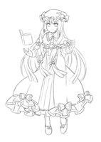 Rough Draft - Patchouli by Rinselli-chan