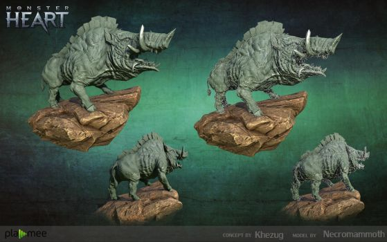 Monster Boar Lowpoly by Necromammoth