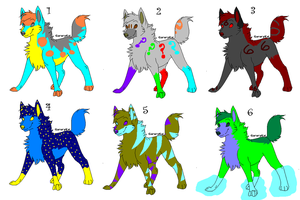 FREE WOLF ADOPTABLES by YukiBlueWho
