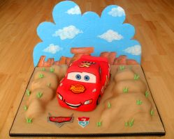 Disney Cars Cake. by RebeccaRoseBrine
