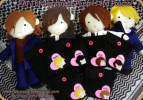 KAT-TUN Plushies and Pouchs by miharuru