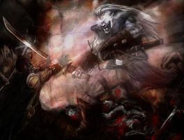 QB faces Iccy by slaine69 by Malazan-Art-Guild
