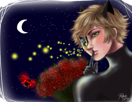Chat Noir Fanart by PatchedUpArtist