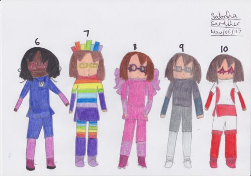 Humanized Cast of Numberblocks (Part 2) by SurfingTheSeaWorld