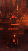 A Cat in the Shadows by Scotchlover