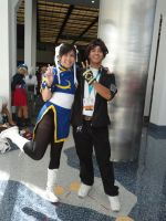 Kyo and Chun-Li Cosplay by BlueWolfRanger95