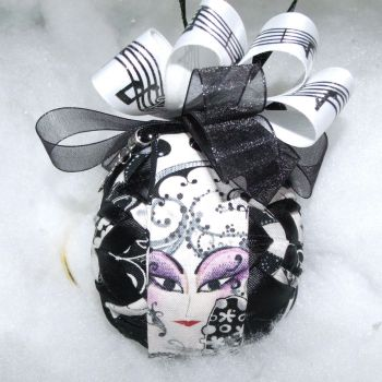 Face The Music handmade quilted ornament 3 by Chrissie1370