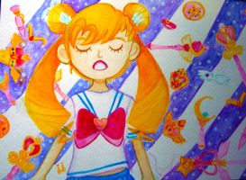 Sailormoon Doodle by PaperSparks