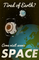 "Portal 2 ""Space"" Poster by LaggyCreations"