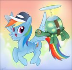 Rainbow's new pet by Mn27
