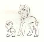Opal Crest and Stone Skipper  Sketched. by FuyusFox