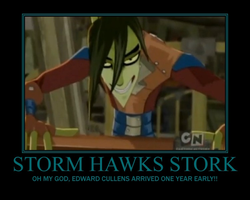 Storm Hawks Stork Demotivational by Sephirath21000