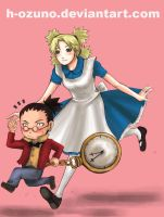 ShikaTema in Wonderland by h-ozuno