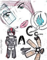 Commander Shepard sketch collage by Epic-Fangirl
