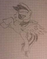 Rainbow Dash Style pony (hand drawn) by Sencatol