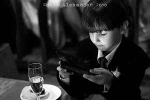 A young wedding guest.. by straightfromcamera