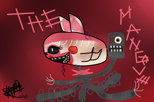 The Mangle chibi (Speed paint) by Marzil1219