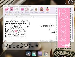 rebel pink - winrar theme by xHoldTightx