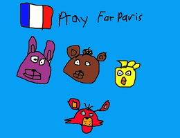 Pray For Paris by FNAFArtCreator