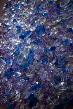 Collection cut glass crystals by steppelandstock