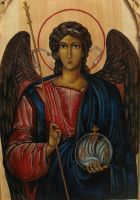 Archangel Michael-painting by Maylar
