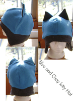Blue and Gray Kitty hat by wolffang56