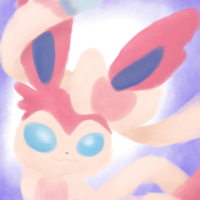 Sylveon in the Blue by TwiTheHedgehog