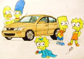 the simpsons for corolla by Rayryan
