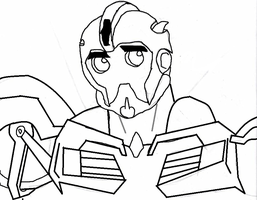 Digital Lineart of BumbleBee TFP by raelynn109
