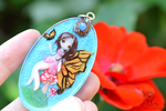 Fairy Necklaces handmade (clay and resin) by Crystarbor
