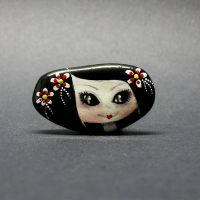 Doll Brooch - Pretty Geisha by 1anina