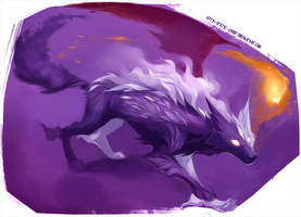 Mist shade wolf by Static-ghost