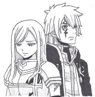 Erza and Jellal by davinoff