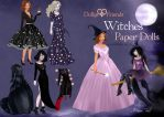 Dollys and Friends Witches Paper Dolls by BasakTinli